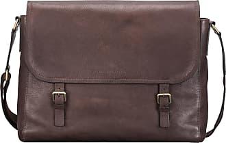 Maxwell Scott Maxwell Scott - Luxury Brown Leather Classic Mens Satchel Bag