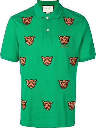 ed4c6abb0 Gucci embroidered tiger polo shirt - Green
