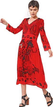 Desigual Vestido Desigual Midi Clam Vermelho