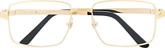 Cartier Armação de óculos quadrada - Dourado