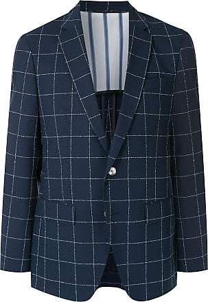BOSS Blazer de lã quadriculado - Azul