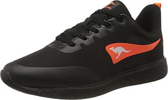 Kangaroos Mens K-Act WEL Sneaker, Jet Black Neon Orange, 12.5 UK