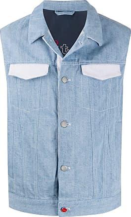 Kiton contrasting pocket denim gilet - Blue