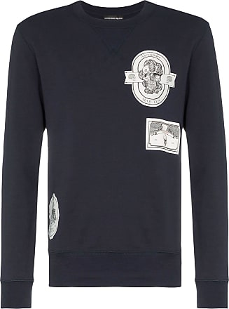 Alexander McQueen patch detail cotton sweatshirt - Blue