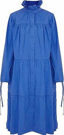 J.W.Anderson J.w.anderson Woman Tiered Cotton Coat Blue Size 12