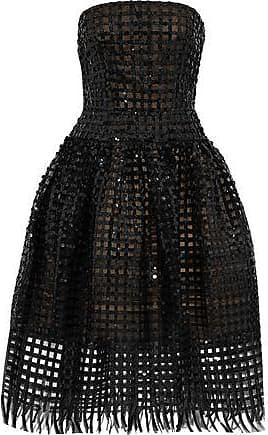 d59e991c79f Oscar De La Renta Oscar De La Renta Woman Strapless Embellished Tulle Midi  Dress Black Size