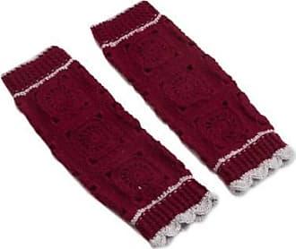 Novica Hand-crocheted alpaca blend leg warmers, Inca Style in Burgundy