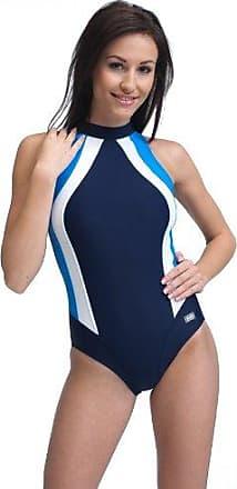 gWINNER Olivia Badeanzug für Damen doppelte Nähte Stehkragen Reißverschluss