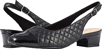 9312ec3f371 Trotters Dea (Black Soft Quilted Leather Patent) Womens 1-2 inch heel
