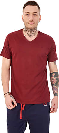 JD Williams Mens Plain V Neck 100% Cotton T-Shirts Slim fit Casual Formal Shirt Top M to XXL Burgundy