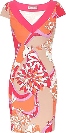 Emilio Pucci Printed stretch-crêpe dress