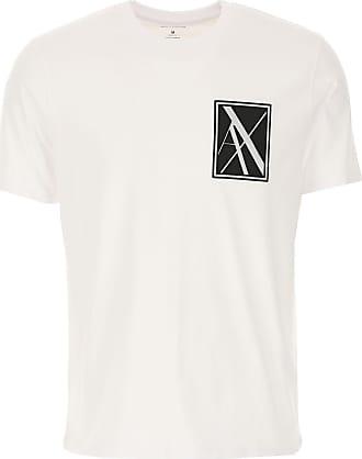 A|X Armani Exchange T-Shirts für Herren, TShirts Günstig im Outlet Sale, Weiss, Baumwolle, 2019, L M S