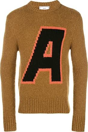 Ami A Crewneck Sweater - Brown