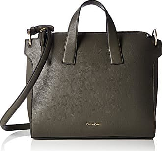 df2405d78 Calvin Klein Iren3 Tote, Bolsos totes Mujer, Grün (Black Olive), 13x31x36