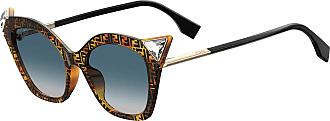 Fendi FF 0357/G/S 3X Glasses, DARK HAVANA/GY GRIGIO, 52 Women