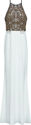 Badgley Mischka Badgley Mischka Woman Embellished Tulle And Cady Gown White Size 8
