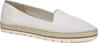 White Mountain Womens Becca Loafer Flat, White/Leather, 7.5 UK