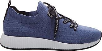 Fiever Tênis Five Knit Laced Blue Jeans | Fiever