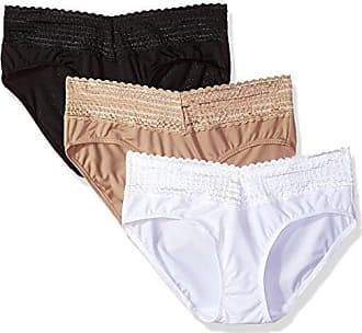 9d39c10db86b Warner's Womens Body Heaven Micro Lace Hipster 3-Pack, Black/Toasted Almond/