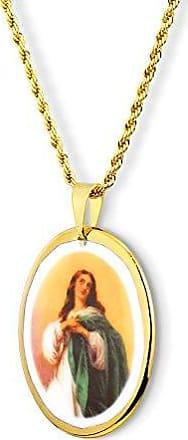Design Medalhas Pingente Medalha Nossa Senhora Imaculada Conceição Ouro