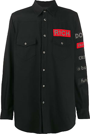 John Richmond Camisa com bordado - Preto