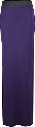 ZEE FASHION unbranded Ladies Gypsy Long Jersey Bodycon Maxi Skirt Women Fancy Dress Party Summer Skirt (XXXL (UK 24-26), Purple)