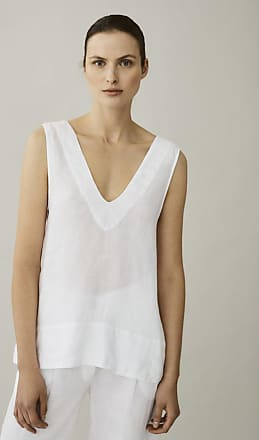 Asceno Lille White Linen Top