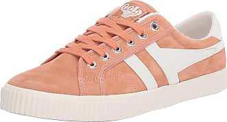 Gola Womens Tennis Mark Cox Suede Sneaker, Peach/Off White