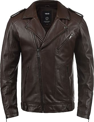 Solid Mamash Mens Leather Jacket, Size:M, Colour:Brown (5066)