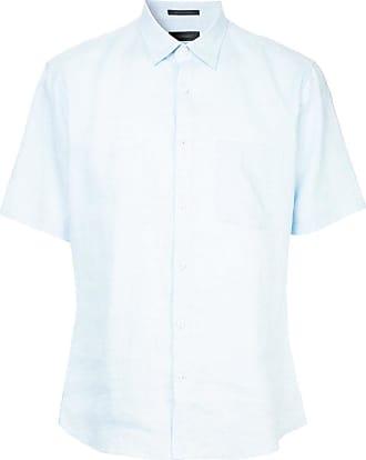 Durban short-sleeved plain shirt - Blue