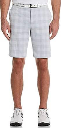 PGA TOUR Short court à carreaux pour hommes, teint en fil blanc brillant, 42