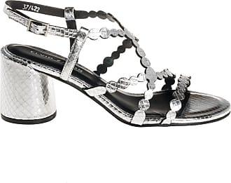 Elvio Zanon sandalo listini tacco alto, 35 / argento