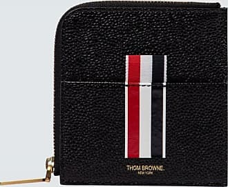 Thom Browne Square half-zipped leather wallet