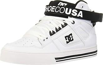DC Womens Pure HIGH-TOP V Skate Shoe, White/Black, 9 UK