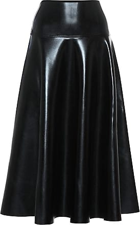Norma Kamali Faux leather midi skirt