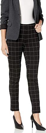 Kenneth Cole Womens 28 The Flex Slimming Legging Business Casual Pants, Window Pane, Medium