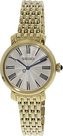 Seiko Womens SRZ498 Gold Stainless-Steel Quartz Fashion Watch