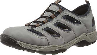 Rieker Mens Frühjahr/Sommer 8065 Loafers, Grey (Grigio/Navy 45), 9.5 UK