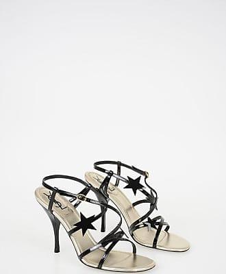 Saint Laurent Lacquered Leather Sandals 10 cm size 36