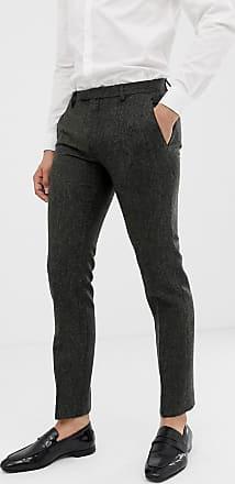 Twisted Tailor Pantaloni da abito super skinny in tweed Donegal antracite-Grigio