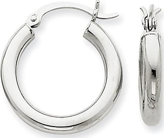 Quality Gold 14kt White Gold 3mm Hoop Earrings