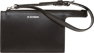 Jil Sander Card Holder With Strap Womens Black