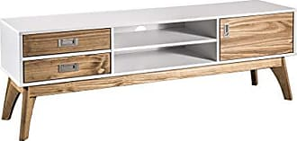 Manhattan Comfort CS96608 Jackie Midcentury Tv Stand Large White/Natural Wood