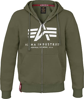 Alpha Industries Basic Zip Hoody Kapuzen Jacke (Sale) dark green, Größe S