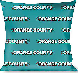 Buckle Down Pillow Decorative Throw Orange County Palm Trees Blue Brown Light Blue
