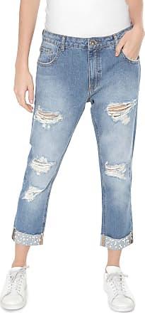 Malwee Calça Jeans Malwee Boyfriend Aplicações Azul