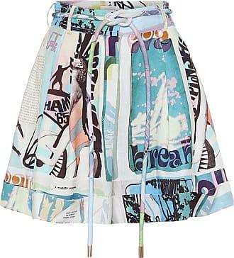 Zimmermann Glassy printed linen shorts