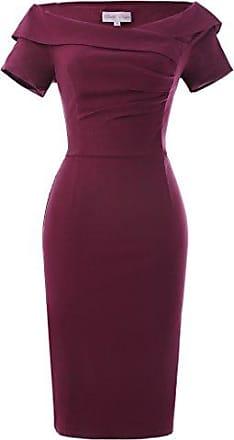 f9ea8cabd639d Belle Poque etuikleid Knielang Stretch Kleid bleistiftkleid Partykleider  cocktailkleid Größe 38 BP158-2
