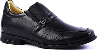 Doctor Shoes Antistaffa Sapato Masculino Linha Up (5 cm + alto) 5497 em Couro Floater Preto Doctor Shoes-Preto-44
