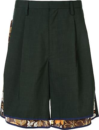 Kolor layered shorts - Green